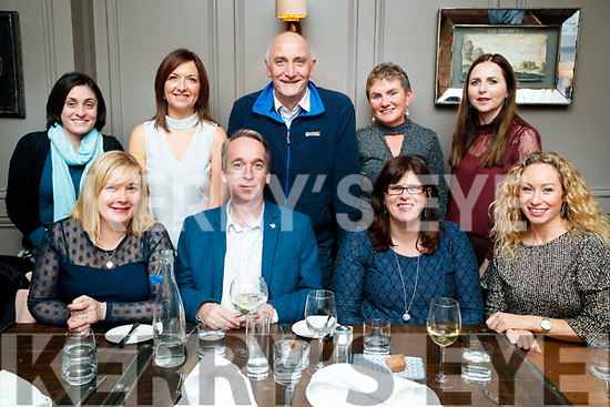 Pictured at the Local Enterprise Office Christmas night out at No. 4 The Square, Tralee, on Friday night last were l-r: Lisa O'Carroll, Victor Sheehan, Bridget Fitzgerald and Fiona Leahy. Back l-r: Lisa Fanning, Eilish O'Donoghue, Tomás Hayes, Margaret Murphy and Bríd Bowler.