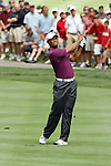 Tiger woods (USA)  on the 2nd fairway on day 1of the World Golf Championship Bridgestone Invitational, from Firestone Country Club, Akron, Ohio. 4/8/11.Picture Fran Caffrey www.golffile.ie