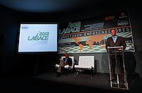 SAO PAULO, SP, 13 DE AGOSTO 2012 - LABACE - Eduardo Marson (e) presidente e vice presidente Ricardo Nougueira (d) da ABAG (Associação Brasileira de Aviação Geral) durante coletiva de abertura da Labace (Feira de aviacao executiva) na tarde dessa segunda-feira, 13 no aeroporto de Congonhas regiao sul da capital paulista. FOTO: VANESSA CARVALHO - BRAZIL PHOTO PRESS.