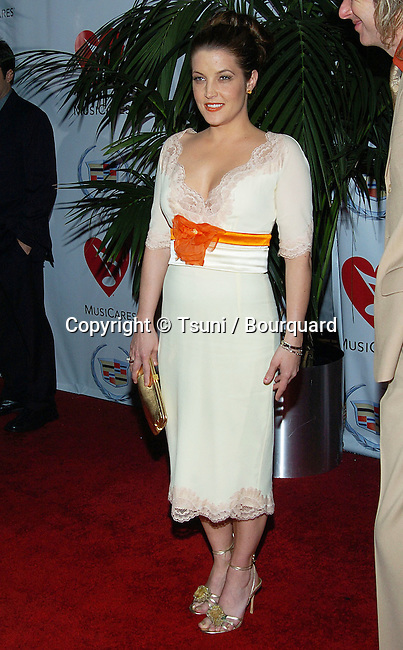 Lisa Marie Presley arriving at the Musicares 2005 Person of The Year Tribute to Brian Wilson at the Palladium on Sunset Blvd in Los Angeles. February 11, 2005.