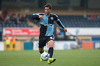 Joe Jacobson of Wycombe Wanderers in action during the Sky Bet League 2 match between Wycombe Wanderers and Northampton Town at Adams Park, High Wycombe, England on 3 October 2015. Photo by Andy Rowland.