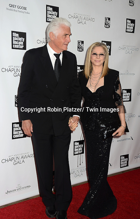 James Brolin and Barbra Streisand attend the  Film Society of Lincoln Center's Gala 40th Annual Charlie Chaplin Award honoring Barbra Streisand on April 22, 2013 in New York City. .photo by Robin Platzer/ Twin Images..212-935-0770
