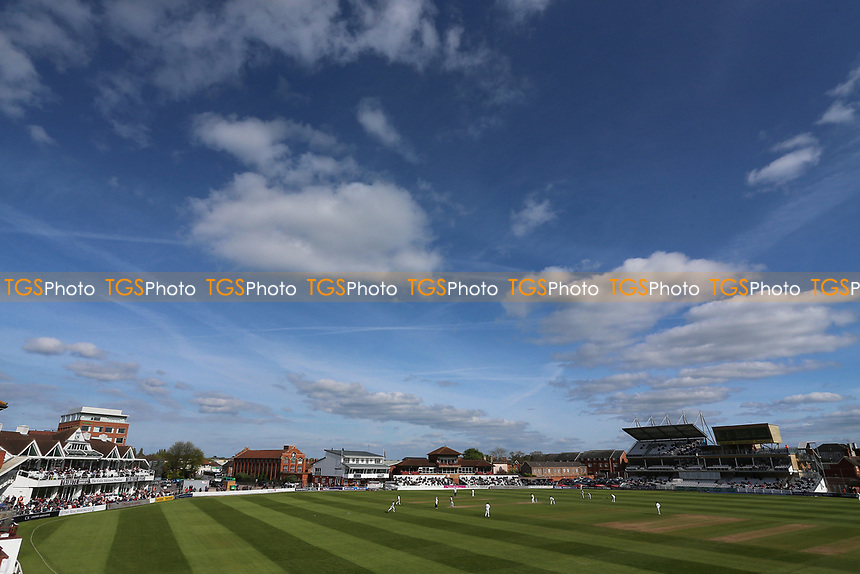 Blue skies over the ground during Somerset CCC vs Essex CCC, Specsavers County Championship Division 1 Cricket at The Cooper Associates County Ground on 15th April 2017