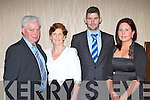 Mike, Mai and PJ Murphy with Tanya Nagle enjoying the Gneeveguilla GAA social in the Killarney Heights hotel on Saturday night..