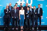 Michael Robinson, Antoni Daimiel, Raul Ruiz, Javier Maldini  on the first anniversary of broadcast of #0 television network of the Movistar + group in Madrid, Spain. January 30th 2017. (ALTERPHOTOS/Rodrigo Jimenez)