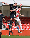 ::  ABERDEEN'S ANDREW CONSIDINE HEADS CLEAR  ::.25/04/2011  sct_jsp002_hamilton_v_aberdeen  .Copyright  Pic : James Stewart.James Stewart Photography 19 Carronlea Drive, Falkirk. FK2 8DN      Vat Reg No. 607 6932 25.Telephone      : +44 (0)1324 570291 .Mobile              : +44 (0)7721 416997.E-mail  :  jim@jspa.co.uk.If you require further information then contact Jim Stewart on any of the numbers above........