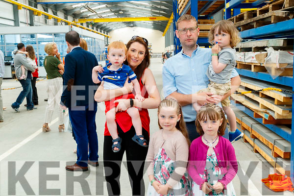 Deirdre and Odhran Brosnan with Elsie, Daniel, Johnny and Emmy Dowling, pictured a tour of Dairymaster on Sunday last.