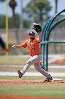 Houston Astros Jake Adams (67) during a Minor League Spring Training game against the St. Louis Cardinals on March 27, 2018 at the Roger Dean Stadium Complex in Jupiter, Florida.  (Mike Janes/Four Seam Images)