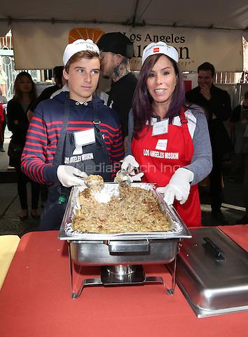 Los Angeles, CA - November 25 Melissa Rivers, Cooper Endicott Attending Los Angeles Mission Thanksgiving For The Homeless At The Los Angeles Mission On November 25, 2015. Photo Credit: Faye Sadou / MediaPunch