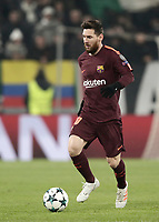 Football Soccer: UEFA Champions League Juventus vs FC Barcelona Allianz Stadium. Turin, Italy, November 22, 2017. <br /> FC Barcellona's Lionel Messi in action during the Uefa Champions League football soccer match between Juventus and FC Barcelona at Allianz Stadium in Turin, November 22, 2017.<br /> UPDATE IMAGES PRESS/Isabella Bonotto