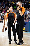 Referees Anne Panther and Sasa Pukl during Turkish Airlines Euroleague match between Real Madrid and CSKA Moscow at Wizink Center in Madrid, Spain. November 29, 2018. (ALTERPHOTOS/Borja B.Hojas)