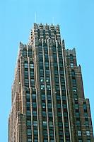 Detroit:  David Stott Building 1929.  Donaldson & Meier. Upper facade. Photo '97.