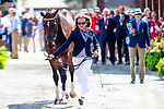 Lara De Liedekerke-Meier and Alpaga d'Arville. BEL. Eventing. Team and individual Horse Inspection before dressage. Day 2. World Equestrian Games. WEG 2018 Tryon. North Carolina. USA. 12/09/2018. ~ MANDATORY Credit Elli Birch/Sportinpictures - NO UNAUTHORISED USE - 07837 394578