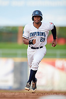Lake County Captains pinch runner Will Benson (29) runs the bases during the first game of a doubleheader against the South Bend Cubs on May 16, 2018 at Classic Park in Eastlake, Ohio.  South Bend defeated Lake County 6-4 in twelve innings.  (Mike Janes/Four Seam Images)