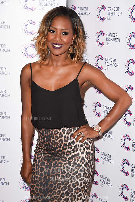 Liberty X (Kelli Young) arriving at James Ingham&rsquo;s Jog On to Cancer, in aid of Cancer Research UK at The Roof Gardens in Kensington, London.  <br /> 12 April  2017<br /> Picture: Steve Vas/Featureflash/SilverHub 0208 004 5359 sales@silverhubmedia.com