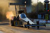 Mar 17, 2017; Gainesville , FL, USA; NHRA top fuel driver Tony Schumacher during qualifying for the Gatornationals at Gainesville Raceway. Mandatory Credit: Mark J. Rebilas-USA TODAY Sports