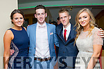 Pictured at the Colaiste na Sceilge Debs on Saturday in the Ring of Kerry Hotel were l-r; Claire Sugrue, Pierce Lynch, Owain Humphreys & Alanah O'Shea.