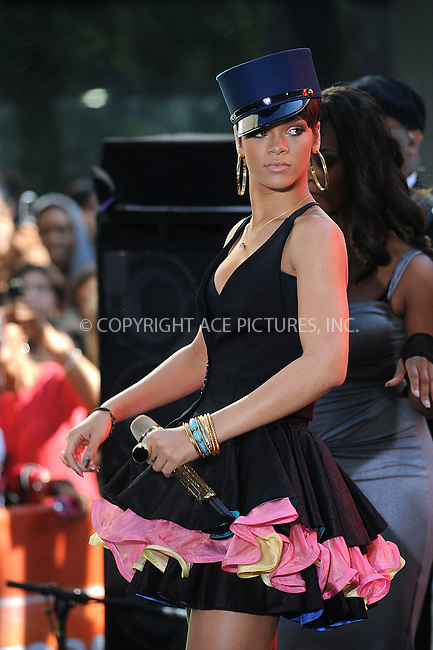 WWW.ACEPIXS.COM . . . . . ....June 20 2008, New York City....Singer Rihanna performed on NBC's 'Today Show' at the Rockefeller Center, June 20 2008 in New York City....Please byline: KRISTIN CALLAHAN - ACEPIXS.COM.. . . . . . ..Ace Pictures, Inc:  ..(646) 769 0430..e-mail: info@acepixs.com..web: http://www.acepixs.com