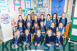 First Day for Ms Jennifer Breen's Junior Infants, from Listowel Presentation Primary on Monday. Pictured front  l-r  Daya Bowles, Sinead Barrett, Lily O'Mahony, Lucy O'Connor and Emelia Bsylzireivz. Middle l-r  Destiny Lonergan, Ruby Ryan, Janai Keane, Emily Moloney, Amy O'Sullivan, Ella Galvin and Amelia Swierzowska. back Standing l-r Class Teacher, Jennifer Breen, Una dillane, Maura Galvin, Martyna Wazkiewiez, Sophie Taylor Brennan, Lila Scanlon and Grace Neil