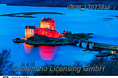 Tom Mackie, LANDSCAPES, LANDSCHAFTEN, PAISAJES, photos,+Britain, British, Dornie, Eilean Donan Castle, Europe, European, Highland Region, Loch Duich, Scotland, Scottish, Tom Mackie,+UK, United Kingdom, architecture, atmosphere, atmospheric, blue, blue hour, bridge, bridges, building, buildings, castle, ca+stles, colorful, colourful, destination, destinations, dramatic outdoors, evening, heritage, high, highlander, historic, hist+orical, history, horizontal, horizontals, icon, iconic, illuminated, illuminating, illumina,Britain, British, Dornie, Eilean+,GBTM170738-1,#l#, EVERYDAY