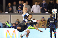 San Jose, CA - Saturday April 08, 2017: Marco Ureña  during a Major League Soccer (MLS) match between the San Jose Earthquakes and the Seattle Sounders FC at Avaya Stadium.