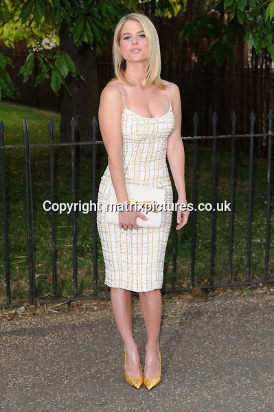 NON EXCLUSIVE PICTURE: PAUL TREADWAY / MATRIXPICTURES.CO.UK<br /> PLEASE CREDIT ALL USES<br /> <br /> WORLD RIGHTS<br /> <br /> English actress Alice Eve attending the annual Serpentine Gallery Summer Party, in London's Kensington Gardens.<br /> <br /> 27th JUNE 2013<br /> <br /> REF: PTY 134404
