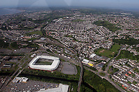 Aerial view of Liberty Stadium and Swansea