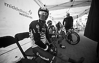 3 Days of West-Flanders, day 1: Middelkerke prologue.Matthew Busche waiting