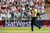 Birmingham Bears' Chris Woakes celebrates the dismissal of Glamorgan's Aneurin Donald<br /> <br /> Photographer Andrew Kearns/CameraSport<br /> <br /> NatWest T20 Blast Semi-Final - Birmingham Bears v Glamorgan - Saturday 2nd September 2017 - Edgbaston, Birmingham<br /> <br /> World Copyright &copy; 2017 CameraSport. All rights reserved. 43 Linden Ave. Countesthorpe. Leicester. England. LE8 5PG - Tel: +44 (0) 116 277 4147 - admin@camerasport.com - www.camerasport.com