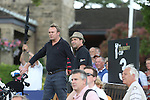 Actors Phillip Glenister and Dougray Scott on the 4th tee.<br /> Celebrity Cup Golf<br /> Celtic Manor Resort<br /> 04.07.14<br /> &copy;Steve Pope-SPORTINGWALES