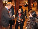 *** EXCLUSIVE Coverage ***.Woody Allen and his New Orleans Jazz Band performing at Placio De Los Congresos y De La Musica Euskalduna in Bilbao, Spain..( Woody with wife Soon-Yi Previn signing autographs for fans ).December 29, 2004.© Walter McBride /