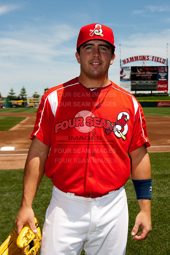 Zack Cox (7) of the Springfield Cardinals prior to a game against the San Antonio Missions on May 29, 2011 at Hammons Field in Springfield, Missouri.  Photo By David Welker/Four Seam Images