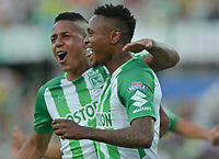 MEDELLÍN - COLOMBIA ,30-09-2018:Gustavo Torres jugador del Atlético Nacional celebra su gol contra el Boyacá Chicó durante partido por la fecha 12 de la Liga Águila II 2018 jugado en el estadio Atanasio Girardot de la ciudad de Medellín. / Gustavo Torres  player of Atletico Nacional celebrates his goal agaisnt of Boyaca Chico during the match for the date 12 of the Liga Aguila II 2018 played at the Atanasio Girardot  Stadium in Medellin  city. Photo: VizzorImage /León Monsalve / Contribuidor.