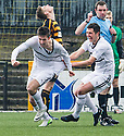 Raith Rovers' Callum Booth (left) celebrates after he scores their goal.