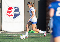 Allston, Massachusetts - May 30, 2015:  The Boston Breakers (blue) defeated FC Kansas City (white/blue), 1-0 in a National Women's Soccer League Elite (NWSL) match at Soldiers Field Soccer Stadium.