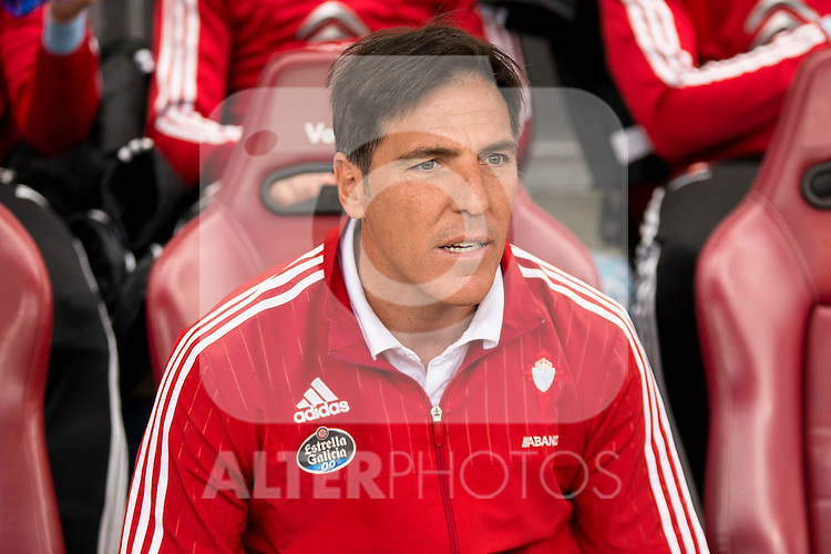 Celta de Vigo's coach Eduardo Berizzo during La Liga Match at Vicente Calderon Stadium in Madrid. May 14, 2016. (ALTERPHOTOS/BorjaB.Hojas)