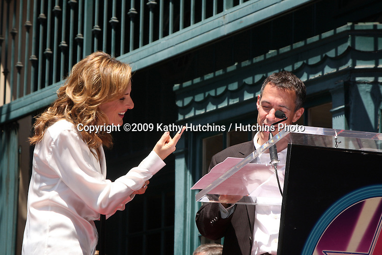 Marlee Matlin & Jack Jason attending the Hollywood Walk of Fame Ceremony for Marlee Matlin on Hollywood Boulevard in Los Angeles, CA  on May 6, 2009.©2009 Kathy Hutchins / Hutchins Photo....                .