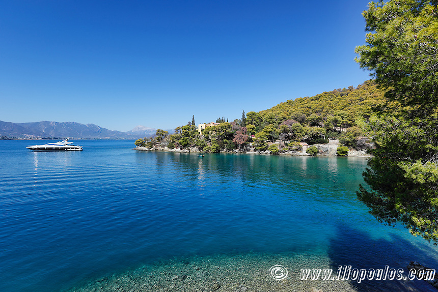 The Love bay in Poros island, Greece