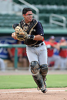 Minnesota Twins catcher Rainis Silva (26) during an Instructional League game against the Boston Red Sox on September 26, 2014 at jetBlue Park at Fenway South in Fort Myers, Florida.  (Mike Janes/Four Seam Images)