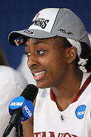 SACRAMENTO, CA - MARCH 29: Nnemkadi Ogwumike after Stanford's 55-53 win over Xavier in the NCAA Women's Basketball Championship Elite Eight on March 29, 2010 at Arco Arena in Sacramento, California.