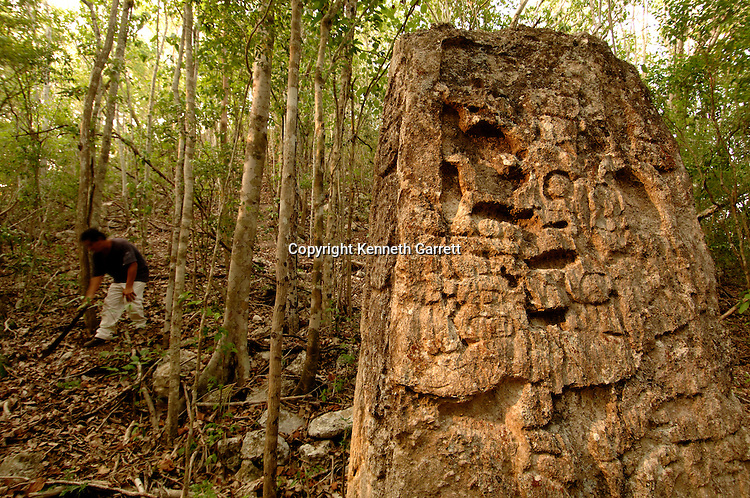 7319 Oxpemul; Maya; Ancient Cultures; Mayan; Mexico; Maya Biosphere Reserve; Ivan Sprajc; CRE Grantee; Stela; Oxpemul