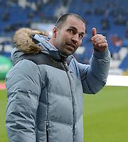 FUSSBALL   1. BUNDESLIGA  SAISON 2012/2013   15. Spieltag TSG 1899 Hoffenheim - SV Werder Bremen    02.12.2012 Trainer Markus Babbel (TSG 1899 Hoffenheim) nachdenklich