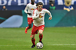16.03.2019, VELTINS-Arena, Gelsenkirchen, GER, DFL, 1. BL, FC Schalke 04 vs RB Leipzig, DFL regulations prohibit any use of photographs as image sequences and/or quasi-video<br /> <br /> im Bild Marcel Sabitzer (#7, RB Leipzig) Aktion . Einzelbild . Freisteller . mit Ball <br /> <br /> Foto © nph/Mauelshagen