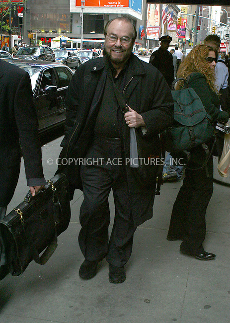 WWW.ACEPIXS.COM . . . . .  ....NEW YORK, MAY 2, 2005....Inside the Actor's Studio's James Lipton seen walking through Times Square.....Please byline: PAUL CUNNINGHAM - ACE PICTURES.... *** ***..Ace Pictures, Inc:  ..Craig Ashby (212) 243-8787..e-mail: picturedesk@acepixs.com..web: http://www.acepixs.com