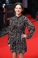 """Ariella Glaser<br /> arriving for the """"Radioactive"""" premiere at the Curzon Mayfair, London.<br /> <br /> ©Ash Knotek  D3560 07/03/2020"""