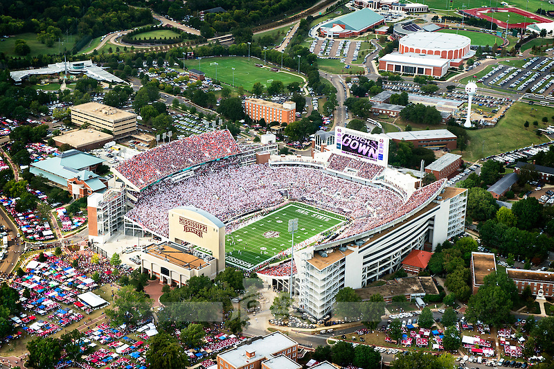 Aerial of Davis Wade Stadium during the game vs Auburn. (photo by Beth Wynn / © Mississippi State University)