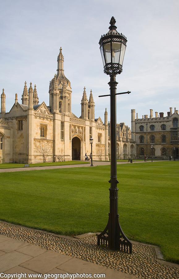 Gatehouse of King's College, Cambridge university, Cambridgeshire, England