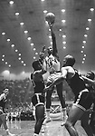23 MAR 1963:  Loyola's Jerry Harkness (15) during the NCAA Final Four Men's Basketball National Championship held in Louisville, KY at Freedom Hall. Loyola defeated Cincinnati 60-58 in overtime to win the championship. Photo Copyright Rich Clarkson