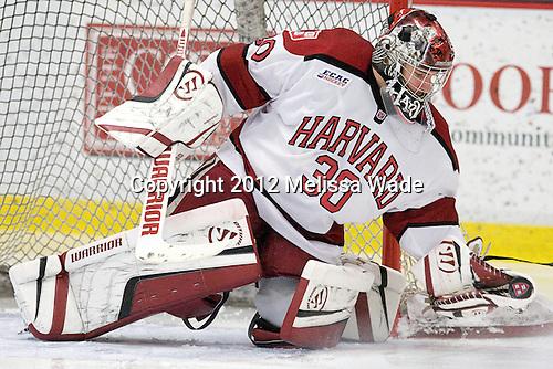 Raphael Girard (Harvard - 30) - The Harvard University Crimson defeated the visiting Brown University Bears 3-2 on Friday, November 2, 2012, at the Bright Hockey Center in Boston, Massachusetts.