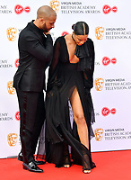 Marvin Humes and Rochelle Humes<br /> at Virgin Media British Academy Television Awards 2019 annual awards ceremony to celebrate the best of British TV, at Royal Festival Hall, London, England on May 12, 2019.<br /> CAP/JOR<br /> &copy;JOR/Capital Pictures